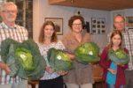 Gartenwettbewerb der Siedlergemeinschaft: Größter Wirsing hatte 3680 Gramm