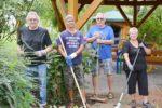 Die Lebenshilfe erhielt leider keine Unterstützung bei den Gartenarbeiten am  Johannes Schrey Haus