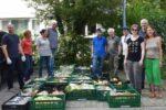 Pressetermin der Foodsharer und der Viernheimer Grünen  an der Ausgabestelle in der Weinheimer Johannisstraße am 14.08.2019