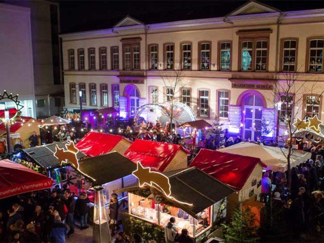 44. Viernheimer Weihnachtsmarkt vom 5. bis 15. Dezember – jeweils donnerstags bis sonntags auf dem Rovigoplatz