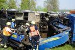 Weinheim/BAB 659: Autokran beschädigt Eisenbahnbrücke – Pressemeldung Nr. 1