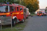 Großeinsatz für die Einsatzkräfte in Lampertheim – Feuerwehren beim Brand in einer Flüchtlingsunterkunft im Einsatz