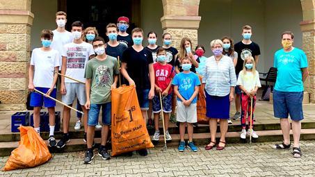 Mannheim : In den Sommerferien den Stadtteil rausgeputzt
