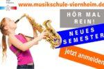 Musikschule Viernheim: Neues Semester startet im September – Anmeldungen sind ab sofort möglich