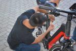 Rund zwanzig Fahrräder wurden codiert