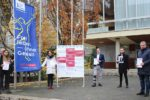 """Gleichstellungsbüro:     """"Frei leben – ohne Gewalt"""" – Flaggenhissung vor dem Rathaus  """"#meinherzgehörtmir – gegen Zwangsverheiratung und Frühehen"""""""