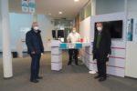 Impfzentrum erhält Segen vom Kreisseniorenbeirat – Vertreter besuchen Impfzentrum in Bensheim